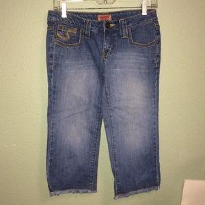 Denim - Juniors Capri pants capris size 5 denim blue jean